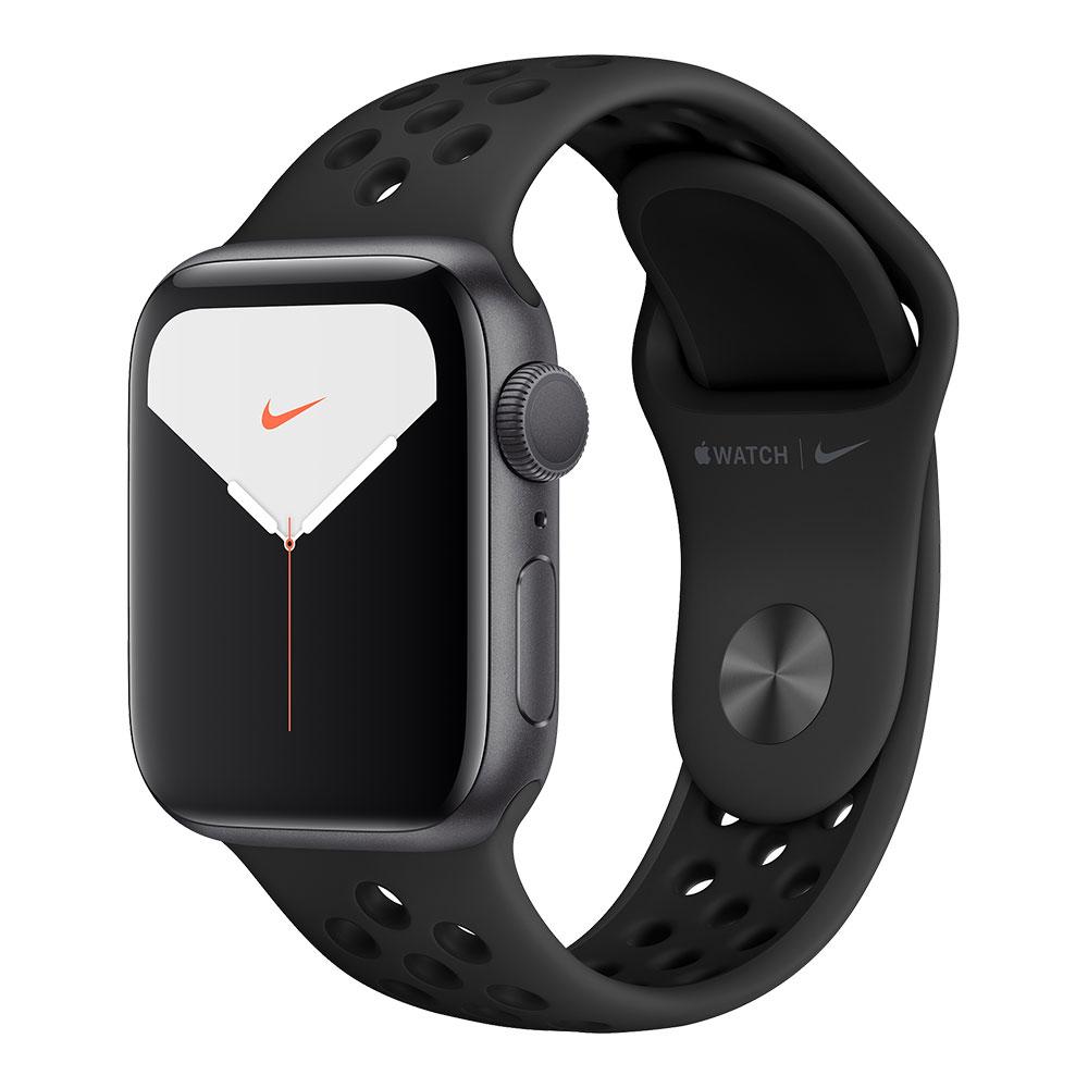 Apple Watch Nike+ Series 5, 40 мм, корпус цвета серый космос, ремешок Nike цвета антрацитовый/чёрный