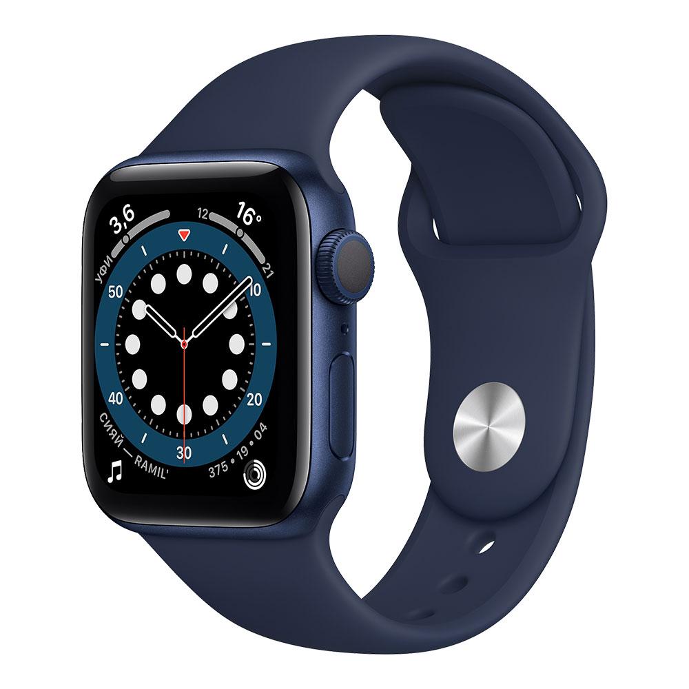 Apple Watch Series 6, 40 мм, корпус синего цвета, ремешок цвета тёмный ультрамарин